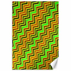 Green Red Brown Zig Zag Background Canvas 20  X 30