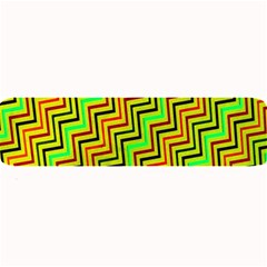 Green Red Brown Zig Zag Background Large Bar Mats by BangZart