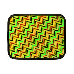 Green Red Brown Zig Zag Background Netbook Case (small)  by BangZart