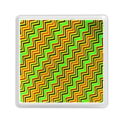 Green Red Brown Zig Zag Background Memory Card Reader (square)  by BangZart