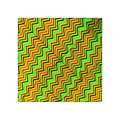 Green Red Brown Zig Zag Background Acrylic Tangram Puzzle (4  X 4 )