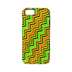 Green Red Brown Zig Zag Background Apple Iphone 5 Classic Hardshell Case (pc+silicone) by BangZart