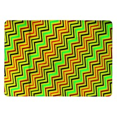 Green Red Brown Zig Zag Background Samsung Galaxy Tab 10 1  P7500 Flip Case