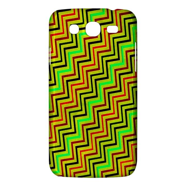 Green Red Brown Zig Zag Background Samsung Galaxy Mega 5.8 I9152 Hardshell Case
