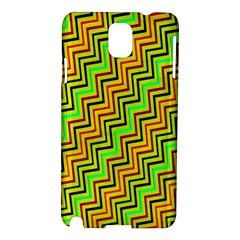 Green Red Brown Zig Zag Background Samsung Galaxy Note 3 N9005 Hardshell Case