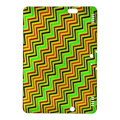 Green Red Brown Zig Zag Background Kindle Fire Hdx 8 9  Hardshell Case by BangZart