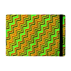 Green Red Brown Zig Zag Background Ipad Mini 2 Flip Cases