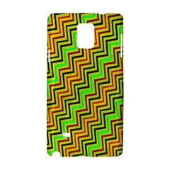 Green Red Brown Zig Zag Background Samsung Galaxy Note 4 Hardshell Case by BangZart
