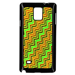 Green Red Brown Zig Zag Background Samsung Galaxy Note 4 Case (black)