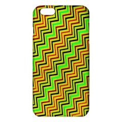 Green Red Brown Zig Zag Background Iphone 6 Plus/6s Plus Tpu Case by BangZart
