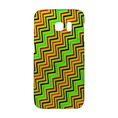 Green Red Brown Zig Zag Background Galaxy S6 Edge