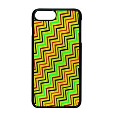 Green Red Brown Zig Zag Background Apple Iphone 7 Plus Seamless Case (black) by BangZart