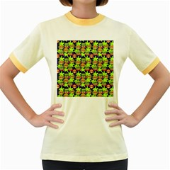 Smiley Monster Women s Fitted Ringer T Shirts by BangZart