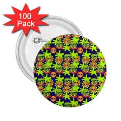 Smiley Monster 2 25  Buttons (100 Pack)