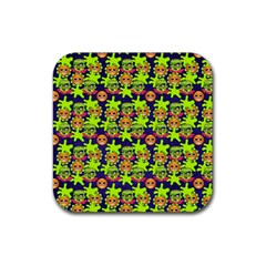 Smiley Monster Rubber Coaster (Square)