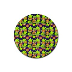 Smiley Monster Rubber Coaster (round)  by BangZart