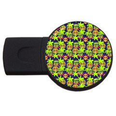 Smiley Monster Usb Flash Drive Round (4 Gb) by BangZart