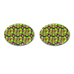 Smiley Monster Cufflinks (oval)