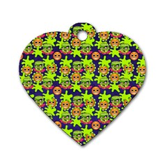 Smiley Monster Dog Tag Heart (one Side)