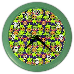 Smiley Monster Color Wall Clocks by BangZart