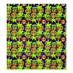 Smiley Monster Shower Curtain 66  X 72  (large)