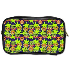 Smiley Monster Toiletries Bags 2 Side