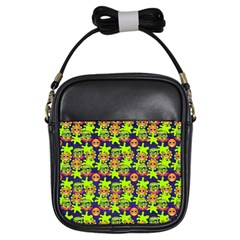 Smiley Monster Girls Sling Bags by BangZart