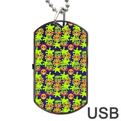 Smiley Monster Dog Tag Usb Flash (two Sides) by BangZart