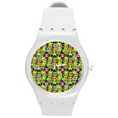 Smiley Monster Round Plastic Sport Watch (m) by BangZart