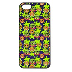 Smiley Monster Apple Iphone 5 Seamless Case (black)