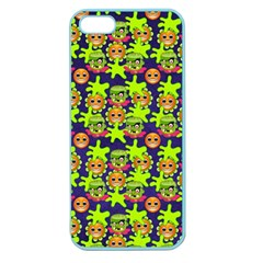Smiley Monster Apple Seamless Iphone 5 Case (color)