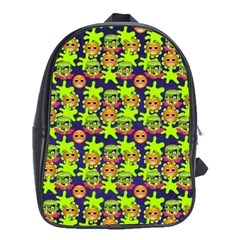 Smiley Monster School Bags (xl)  by BangZart