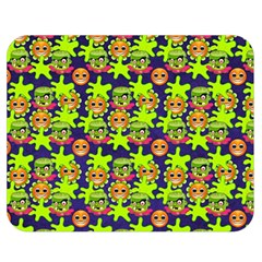 Smiley Monster Double Sided Flano Blanket (medium)  by BangZart