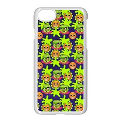 Smiley Monster Apple Iphone 7 Seamless Case (white)