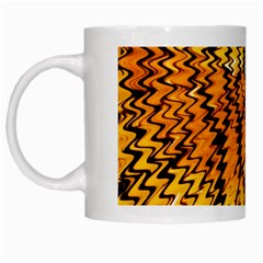 Yellow Chevron Zigzag Pattern White Mugs by BangZart
