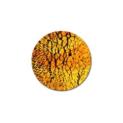 Yellow Chevron Zigzag Pattern Golf Ball Marker