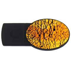 Yellow Chevron Zigzag Pattern Usb Flash Drive Oval (2 Gb) by BangZart