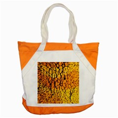 Yellow Chevron Zigzag Pattern Accent Tote Bag