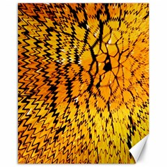 Yellow Chevron Zigzag Pattern Canvas 16  X 20