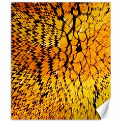 Yellow Chevron Zigzag Pattern Canvas 20  X 24   by BangZart