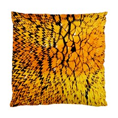 Yellow Chevron Zigzag Pattern Standard Cushion Case (two Sides)