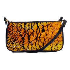 Yellow Chevron Zigzag Pattern Shoulder Clutch Bags by BangZart