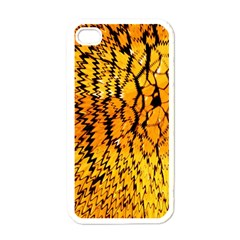 Yellow Chevron Zigzag Pattern Apple Iphone 4 Case (white) by BangZart