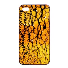 Yellow Chevron Zigzag Pattern Apple Iphone 4/4s Seamless Case (black) by BangZart