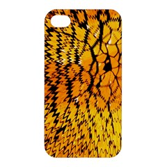 Yellow Chevron Zigzag Pattern Apple Iphone 4/4s Hardshell Case by BangZart