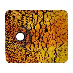 Yellow Chevron Zigzag Pattern Galaxy S3 (flip/folio)