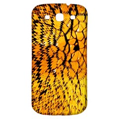 Yellow Chevron Zigzag Pattern Samsung Galaxy S3 S Iii Classic Hardshell Back Case by BangZart
