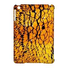 Yellow Chevron Zigzag Pattern Apple Ipad Mini Hardshell Case (compatible With Smart Cover) by BangZart