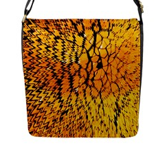Yellow Chevron Zigzag Pattern Flap Messenger Bag (l)  by BangZart