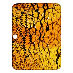 Yellow Chevron Zigzag Pattern Samsung Galaxy Tab 3 (10 1 ) P5200 Hardshell Case